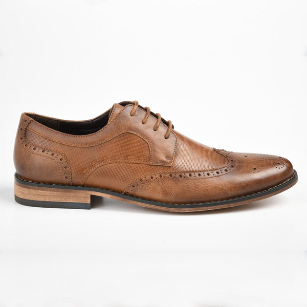 Baldini Men's James Two Tone Brogue - Tan