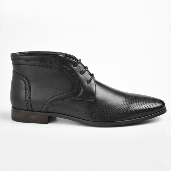 Baldini Men's Greyson Lace-Up Ankle Boot - Black