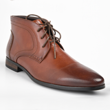 Baldini Men's Greyson Lace-Up Ankle Boot - Rust