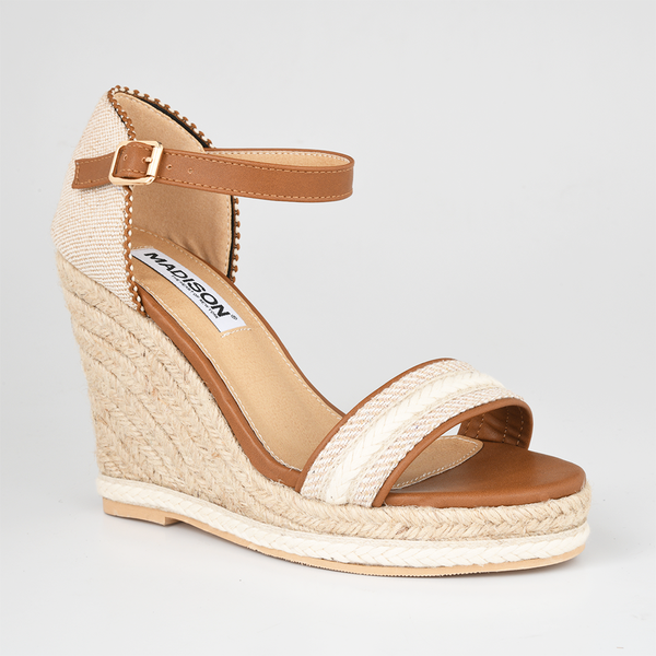 Madison Everlee Tan Wedges