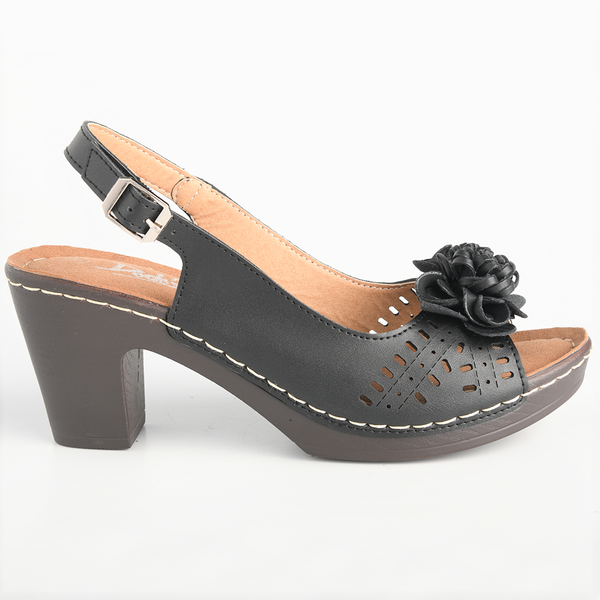 Dodo's Women's Rose Slingback Clog Sandals - Black