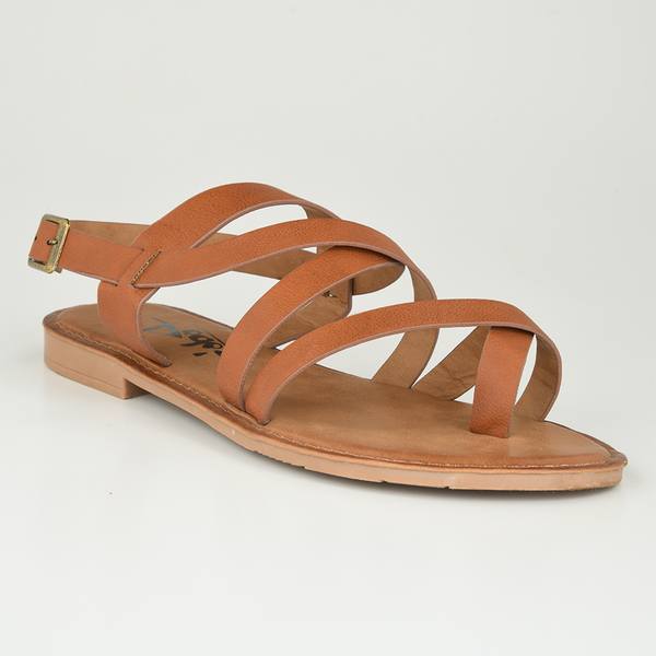 Dodo's Women's Gemma Strappy Flat Sandals - Tan