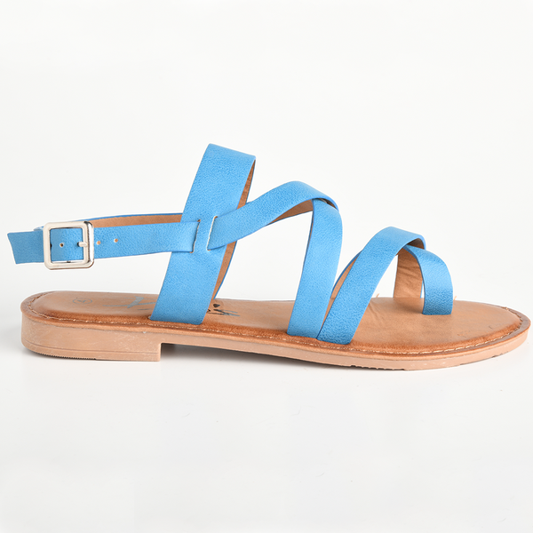 Dodo's Women's Gemma Strappy Flat Sandals - Blue