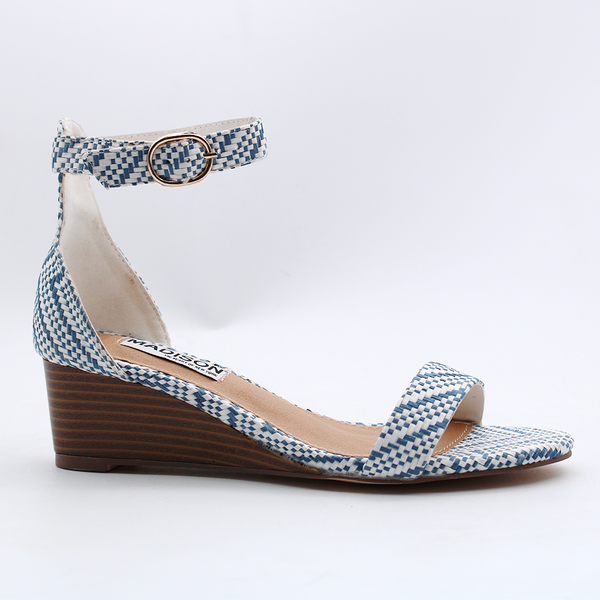 Madison Iliana Blue/White Wedges