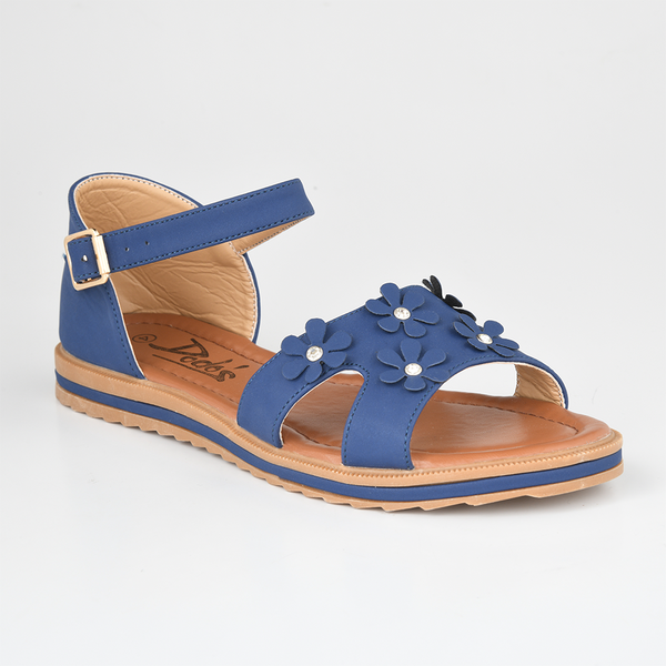 Dodo's Women's Daisy Closed Back Flat Sandals - Navy