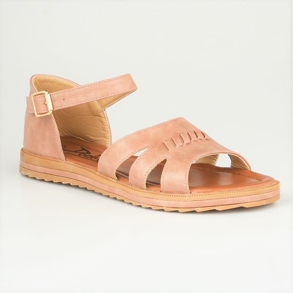 Dodo's Women's Stitch Closed Back Flat Sandals - Tan