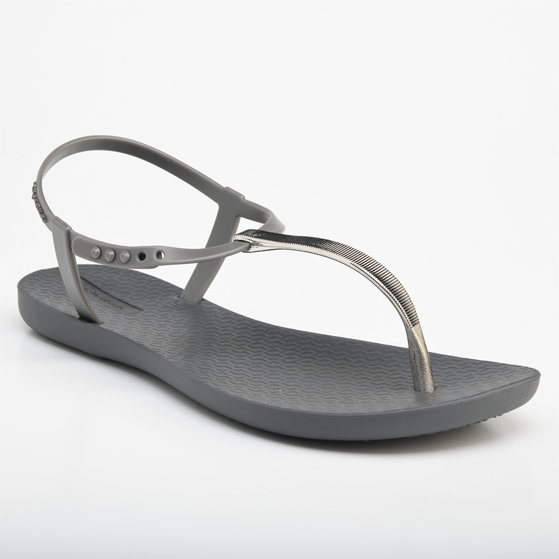 Ipanema Women's Charm T-Strap Sandals - Grey