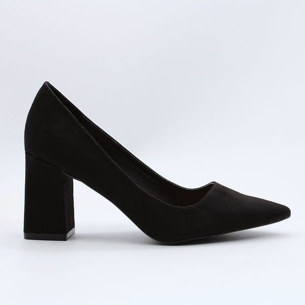 Madison Hannah Black Court Heels