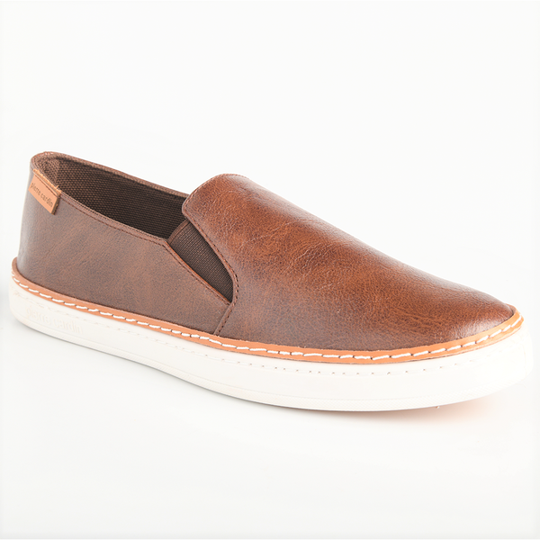 Pierre Cardin Women's Amy Double Gusset Slip On Sneaker - Brown