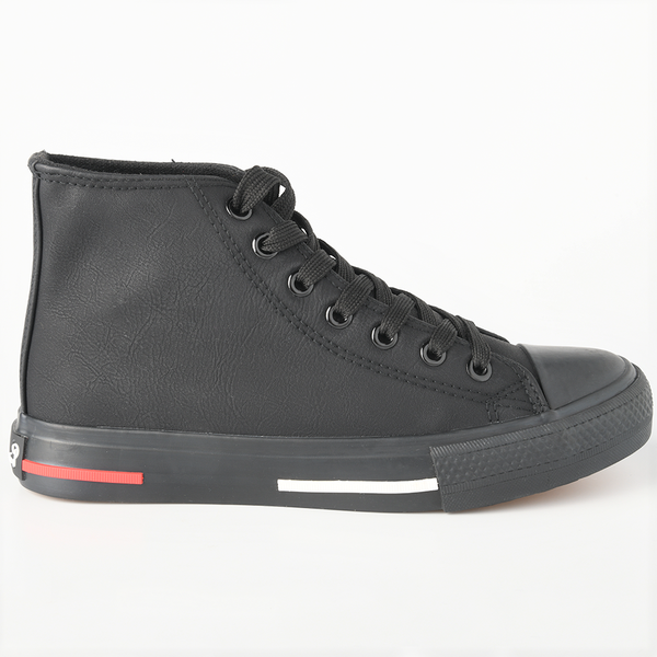 Pierre Cardin Womens Kiara High Top Sneaker - Black