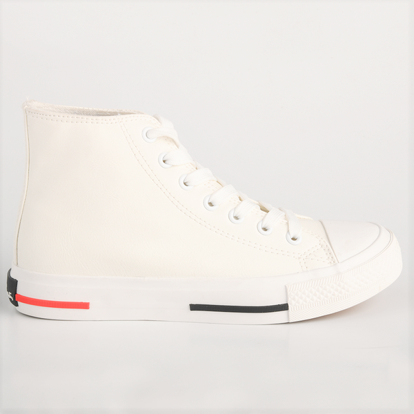 Pierre Cardin Womens Kiara High Top Sneaker - White