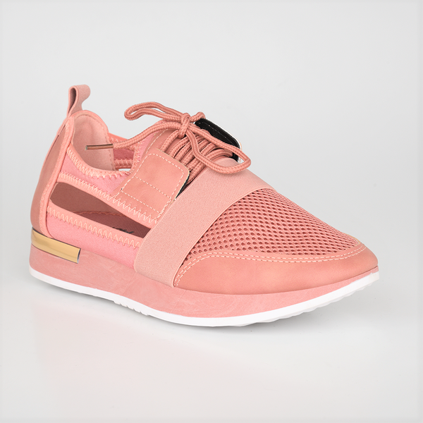 Tom Tom Women's Adele Open Side Sneaker - Pink