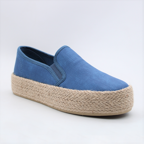 Savoy  Women's Lola  Slip On Flatform Sneakers - Denim  Blue