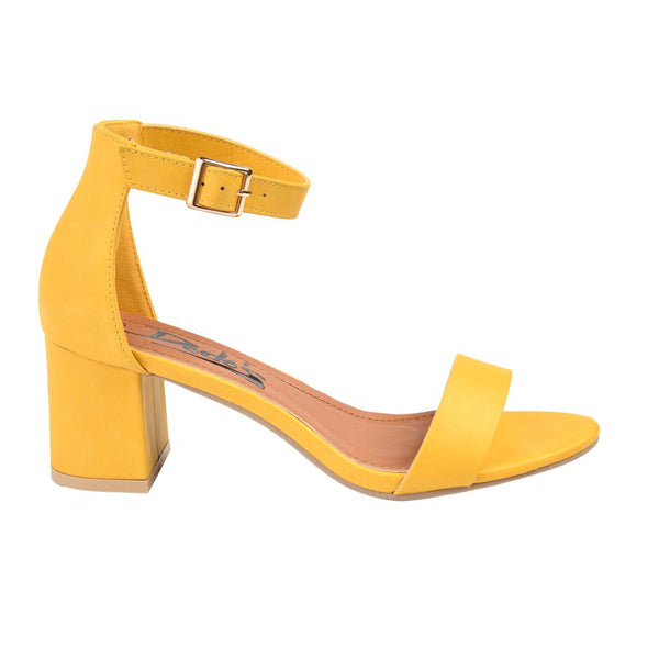 Dodo's Women's Lily Ankle Strap High Heel Sandals - Yellow