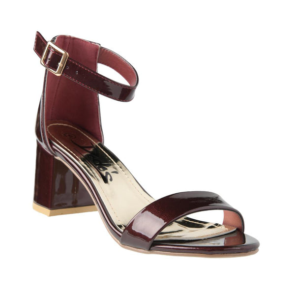 Dodo's Women's Lily Ankle Strap High Heel Sandals - Burgundy