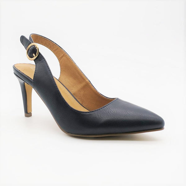 Queue Women's Harper Slingback Heel - Navy