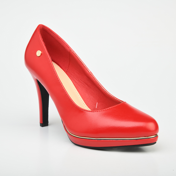Pierre Cardin Women's Hollyy Platform Court Heels - Red