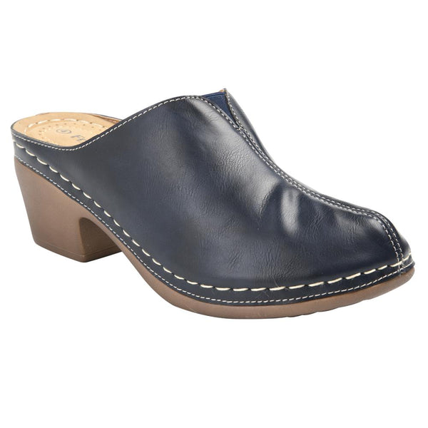 Franco Rossi Women's Ilsa Closed Toe Comfort Clog - Navy