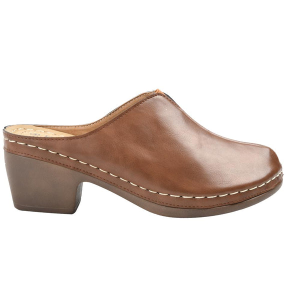 Franco Rossi Women's Ilsa Closed Toe Comfort Clog - Taupe