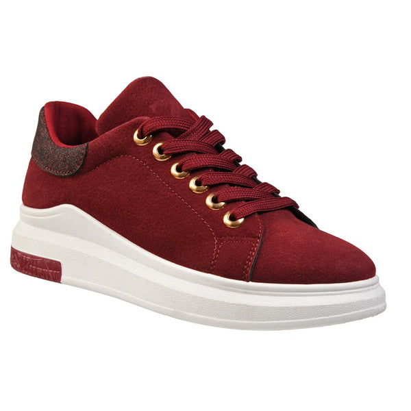 Queue Women's Zoey Fashion Sneaker - Burgundy