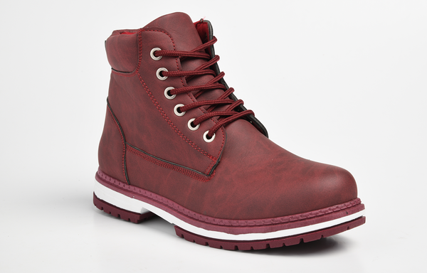 Dodo's Women's Sam Lace Up Boot - Burgundy