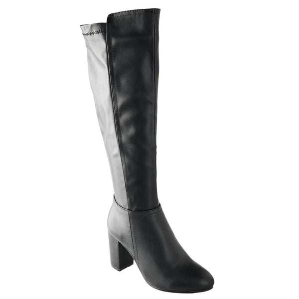 Dodo's Women's Lucy Back Elastic Heel Boot - Black