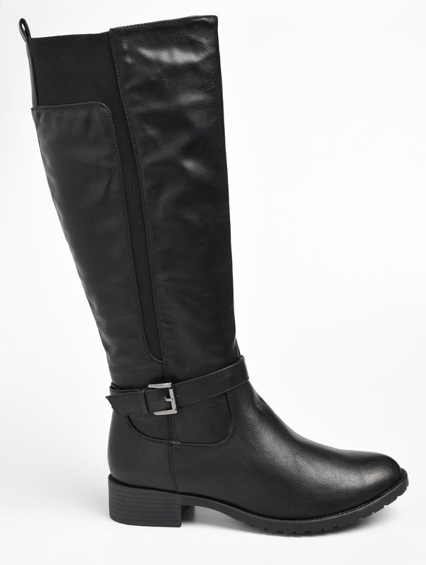 Baldini Women's Esme Tall Gusset Boot - Black