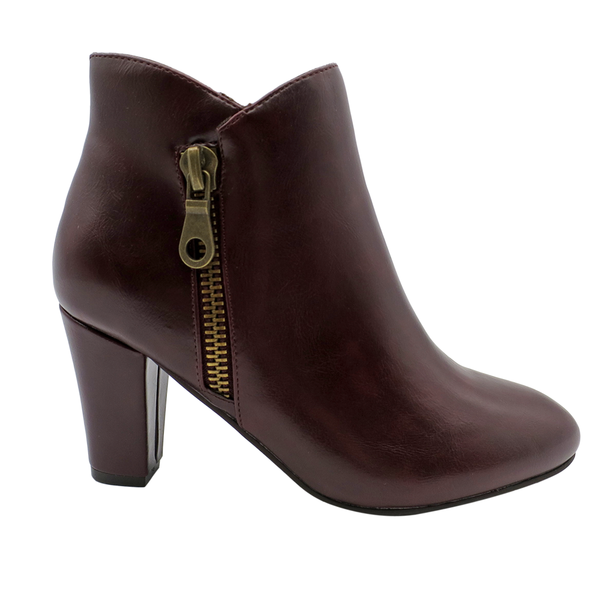 Franco Rossi Talia Women's Side Zip Ankle Bootie - Brown