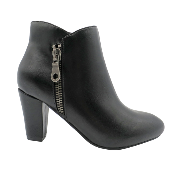 Franco Rossi Talia Women's Side Zip Ankle Bootie - Black