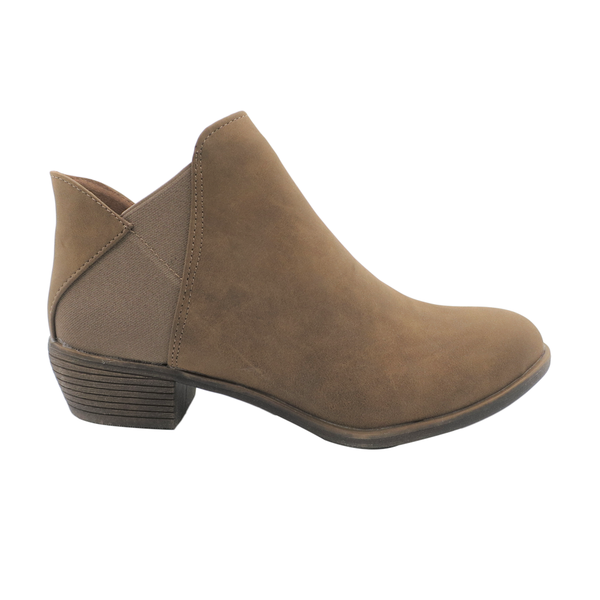 Dodo's Women's Kendall Side Gusset Booties - Taupe