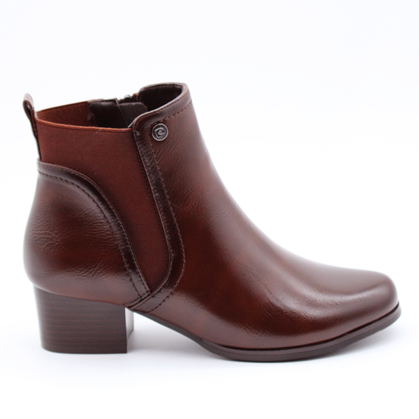 Pierre Cardin Women's McKenna Side Gusset Booties - Brown