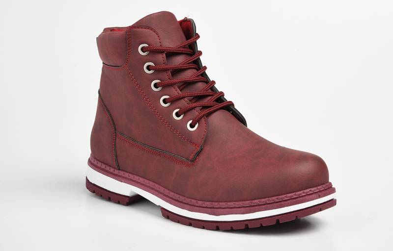 Dodo's Women's Bonnie Lace Up Boot - Burgundy