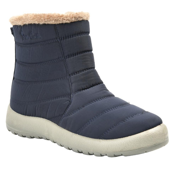 Pierre Cardin Women's Zoe Nylon Faux Fur Collar Boot - Navy