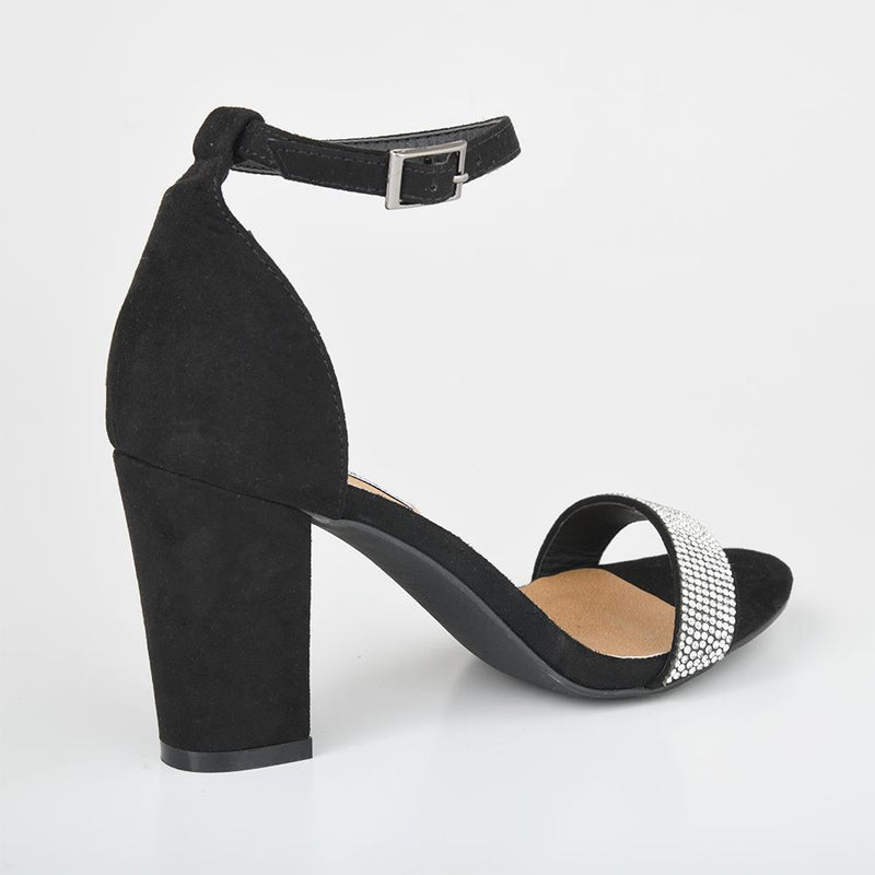 Andi Black Block Heels-Madison Heart of New York-Buy shoes online