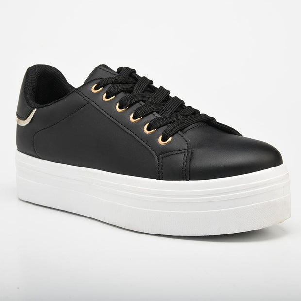 Aria Black Sneakers-Madison Heart of New York-Buy shoes online