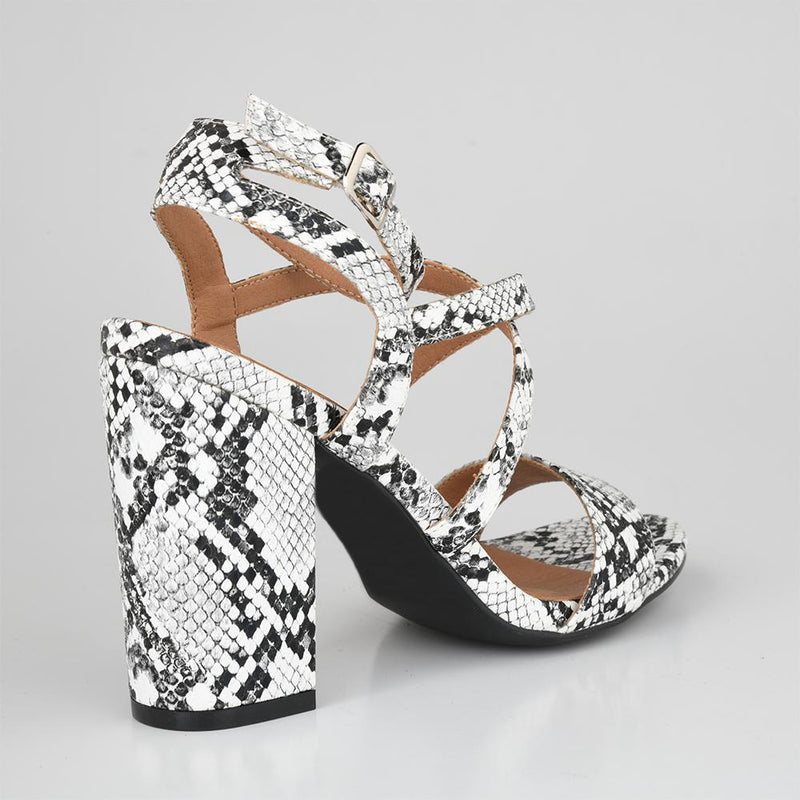 Daniella White Block Heels-Madison Heart of New York-Buy shoes online