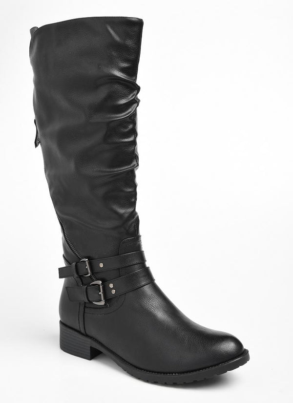 Dodo's Women's Celine Double Buckle Tall Boot - Black-Dodos-Buy shoes online