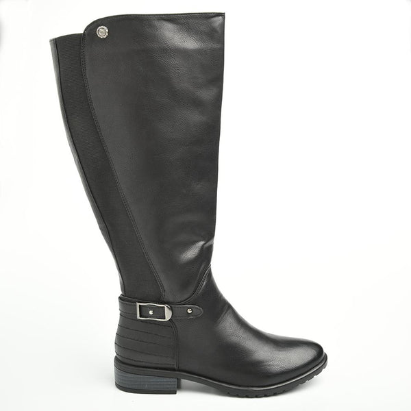 Dodo's Women's Lilia Tall Buckle Boot - Black-Dodos-Buy shoes online