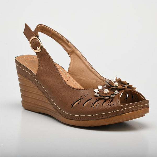 Franco Rossi Women's Torrie Slingback Wedge Sandals - Tan-Franco Rossi-Buy shoes online