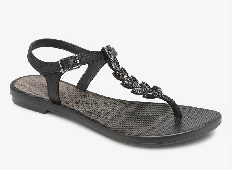 Grendha Women's Glam Thong Sandals - Black-Ipanema-Buy shoes online