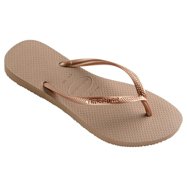 Havaianas Women's Slim Flip Flops - Light Golden-Havaianas-Buy shoes online