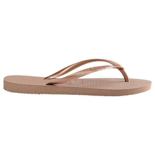 Havaianas Women's Slim Flip Flops - Rose Gold-Havaianas-Buy shoes online