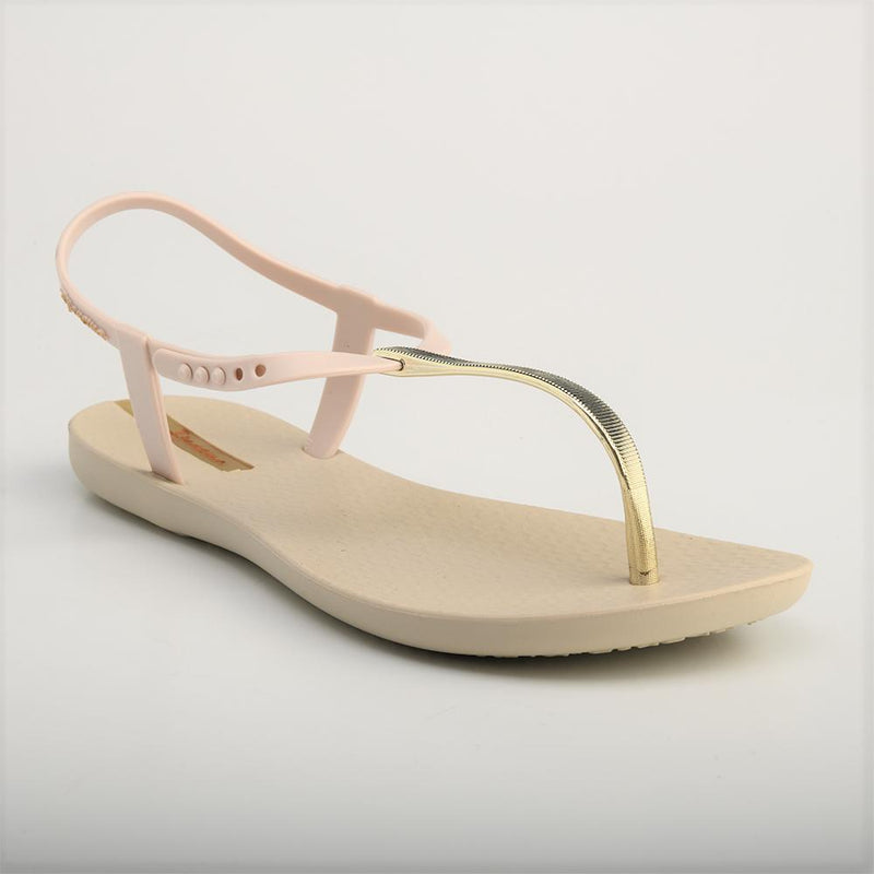 Ipanema Women's Charm T-Strap Sandals - Beige/ Gold-Ipanema-Buy shoes online