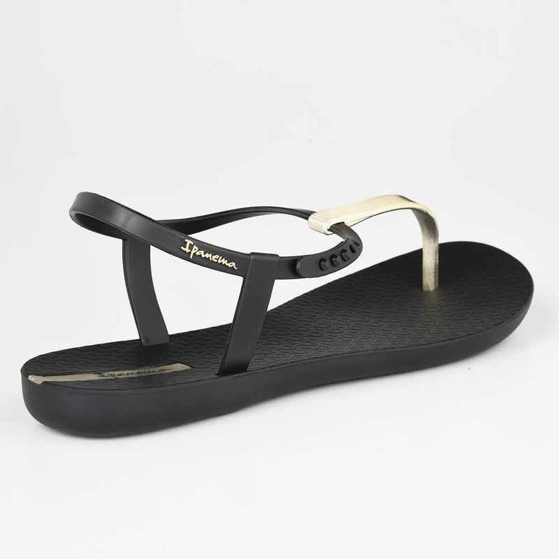 Ipanema Women's Charm T-Strap Sandals - Black/ Gold-Ipanema-Buy shoes online