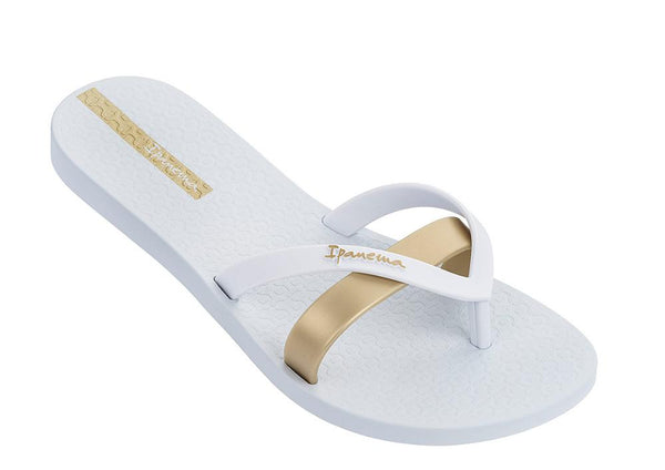 Ipanema Women's Izzy Uderlay Thong Sandals - White/ Gold-Ipanema-Buy shoes online