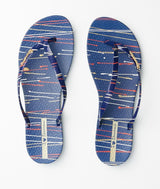 Ipanema Women's Wave Art Fem Thong Sandals - Blue/ Gold-Ipanema-Buy shoes online