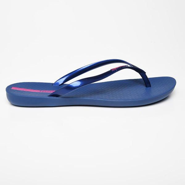 Ipanema Women's Wave Fem Glossy Flip Flops - Navy-Ipanema-Buy shoes online
