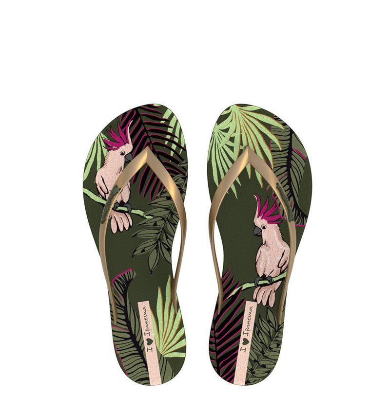 Ipanema Women's Wave Natural Fem Thong Sandals - Green-Ipanema-Buy shoes online