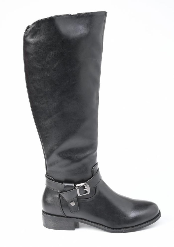 Madison Andria Long Boot - Black-Madison Heart of New York-Buy shoes online