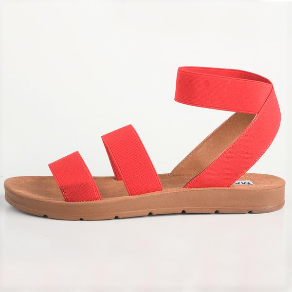 Madison Annie Red Comfort Sandals-Madison Heart of New York-Buy shoes online